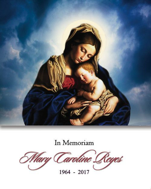 Memorial Card for Mary Caroline Reyes