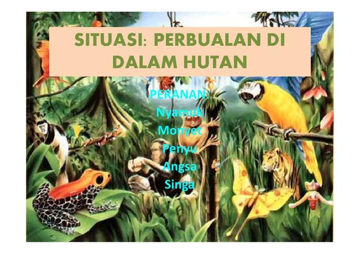 Dialog Haiwan di Hutan