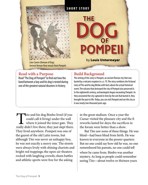 1. the dog of pompeii