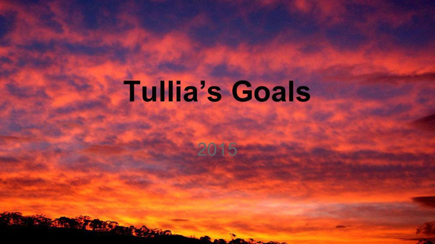 Tullia's goals