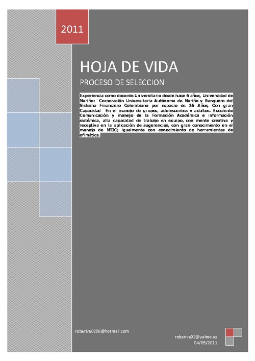 New Flip 6 PRESENTACION HOJA DE VIDA. CORPO. UNIVERSITARIA ISES.