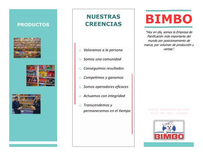 BIMBO - Triptico