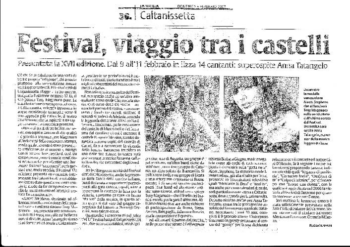 Festival Città di Caltanissetta - rassegna stampa