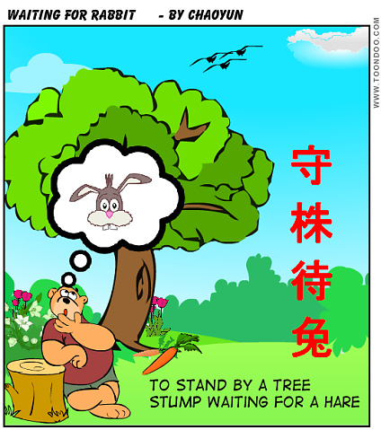 Chinese idiom-To Stand by a Tree  Stump Waiting for a Hare
