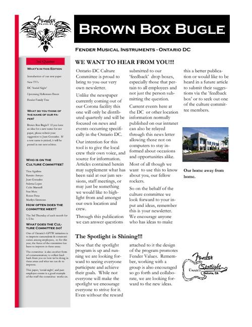 DC Newsletter