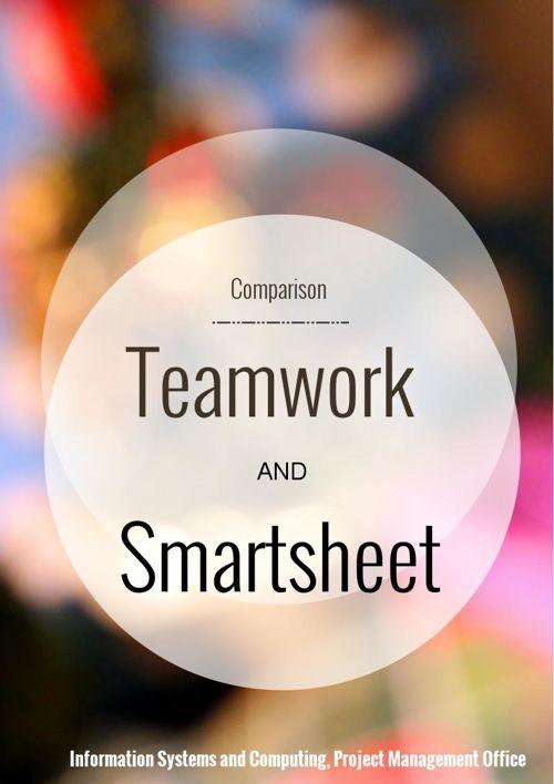 Teamwork Smartsheet Comparison