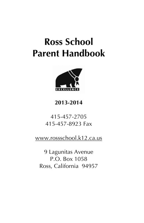 Ross School Parent Handbook
