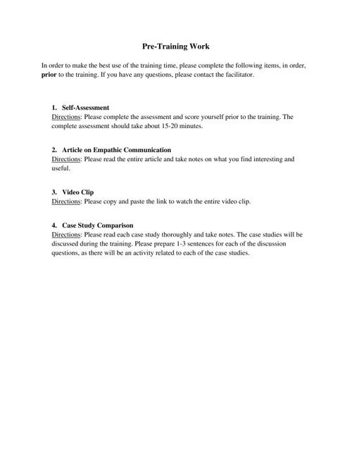 Aslanian Pre-Training Leader Manual