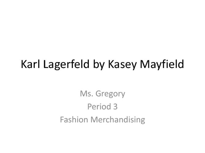 Karl Lagerfeld Facebook