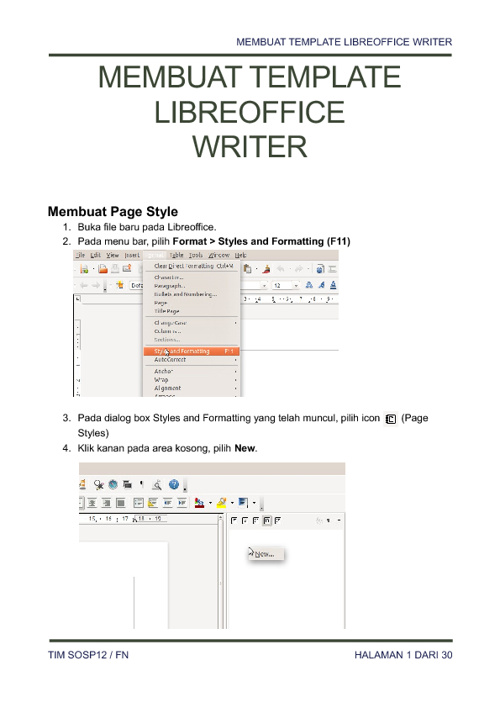 LibreOffice Styles & Formatting