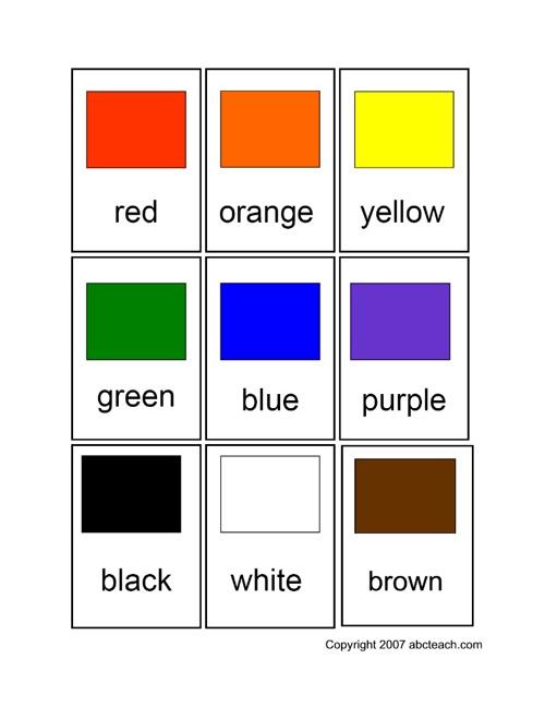אנגלית צבעים וחיות