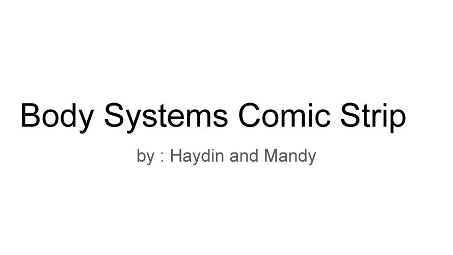 Comic Strip for Science Haydin and Mandy