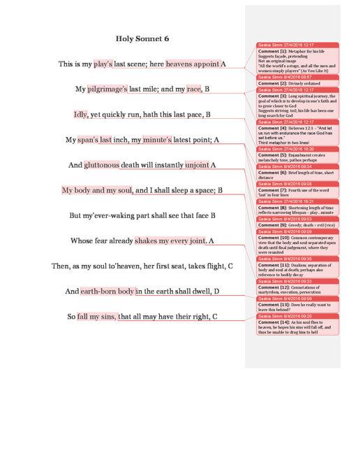 Holy Sonnet 6