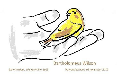 Rouwkaart - Bartholomeus Wilson