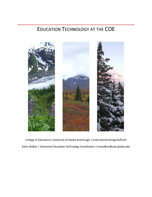 Education Technology at the COE