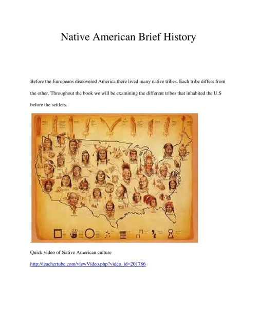Native American Brief History