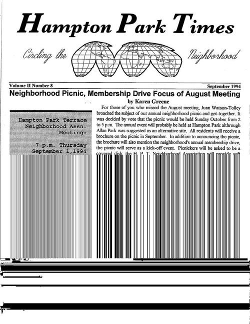 HPT Newsletter September 1994