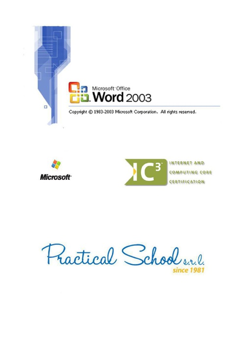 Manuale Word 2003 pronto + copertina