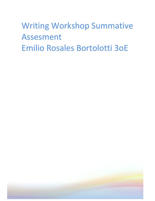Writing Workshop Summative Assesment