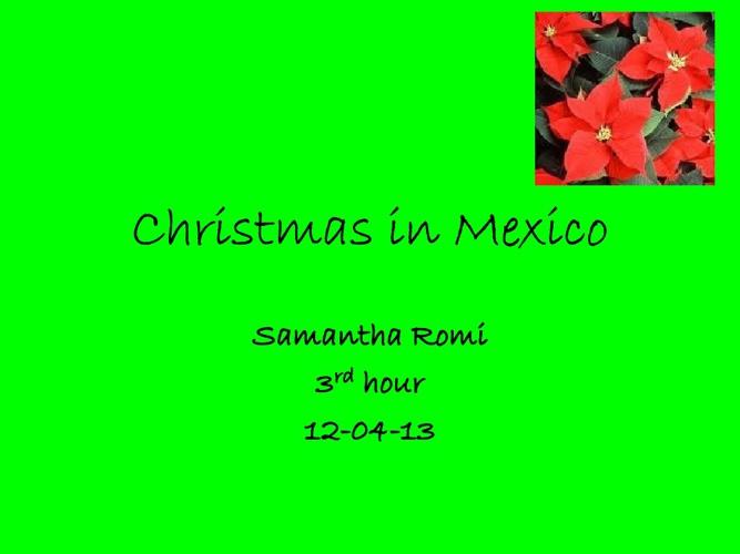 Mexico Christmas