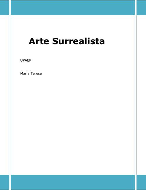 ARTE SURREAL