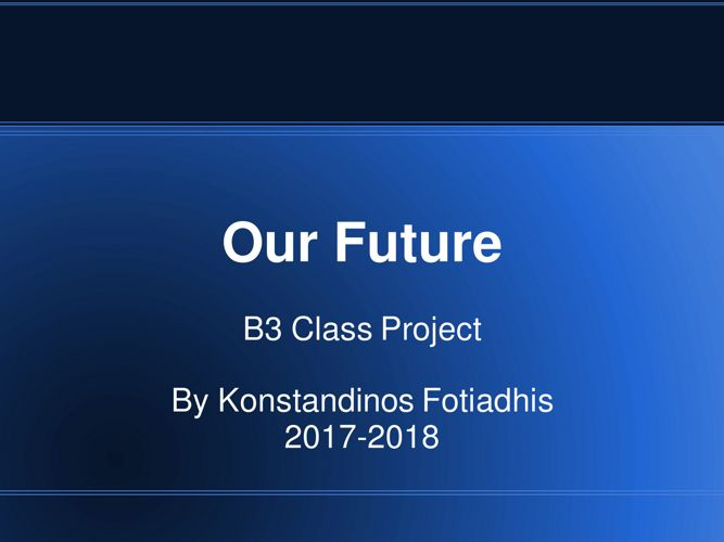 Our Future B3 Konstandinos Fotiadhis
