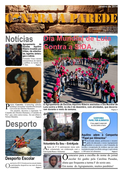 Jornal Contra a Parede - dezembro de 2013