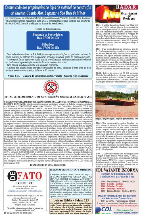 Jornal De Fato 23ª Edição