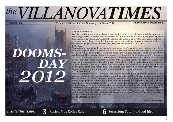 VU Times December 2012