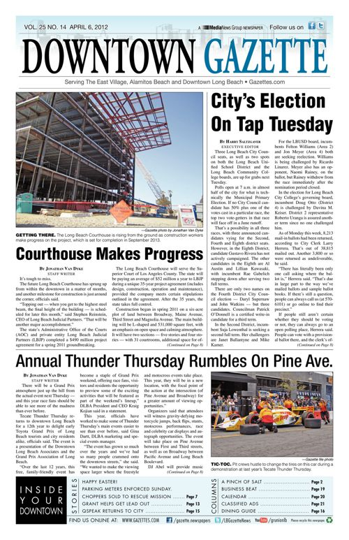 Downtown Gazette  |  April 6, 2012