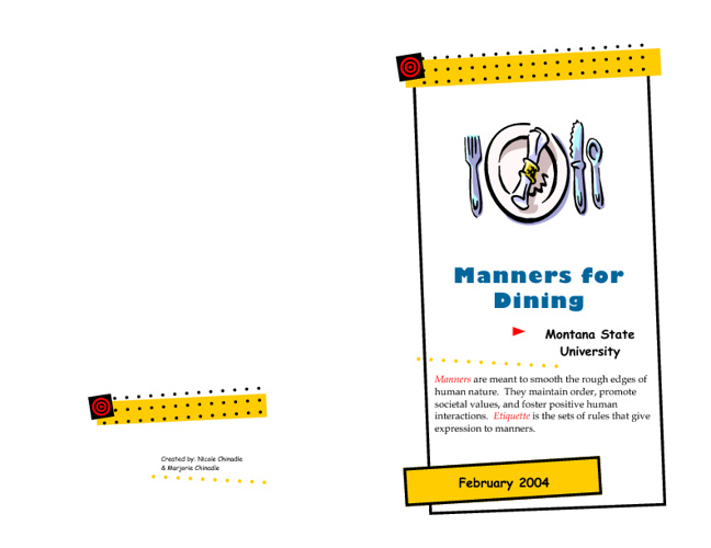 Manners for Dining