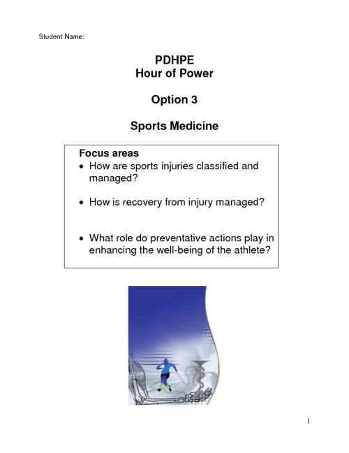 Option 3 Sport Medicine
