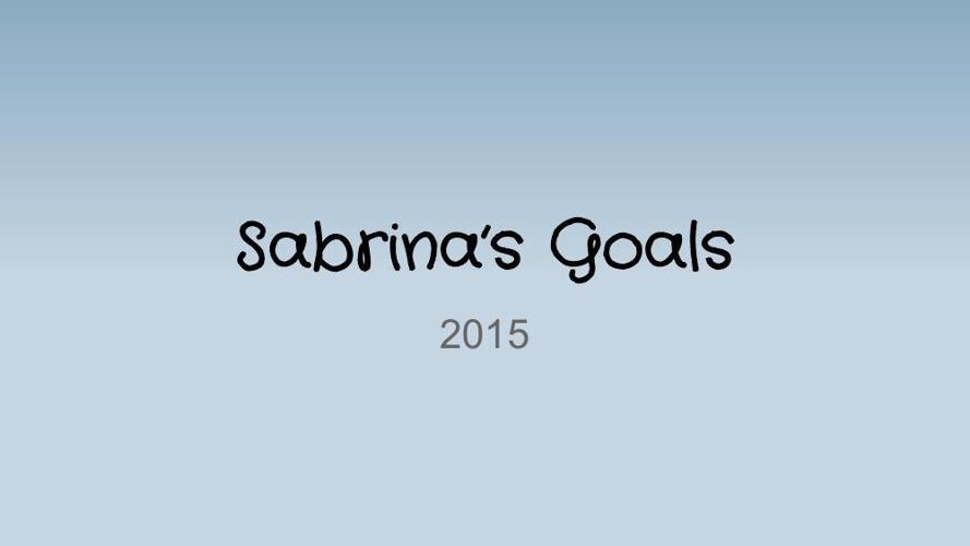 Goal Setting 2015 sabrina alessi