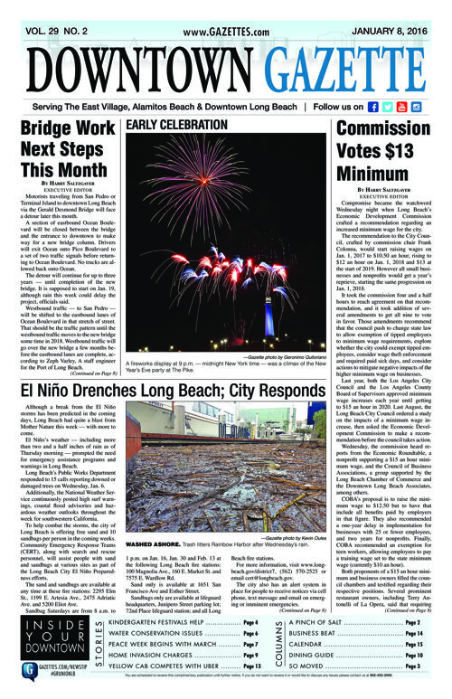 Downtown Gazette  |  January 8, 2016