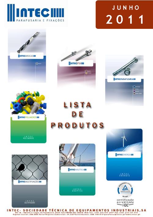 LISTA DE PRODUTOS - JUNHO 2011