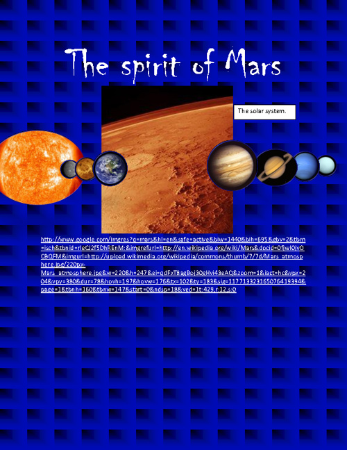 The Spirit rover of Mars