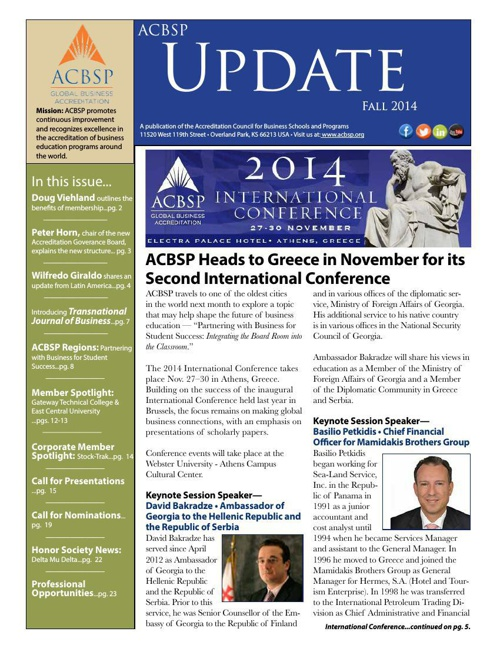 ACBSP Update – Fall 2014