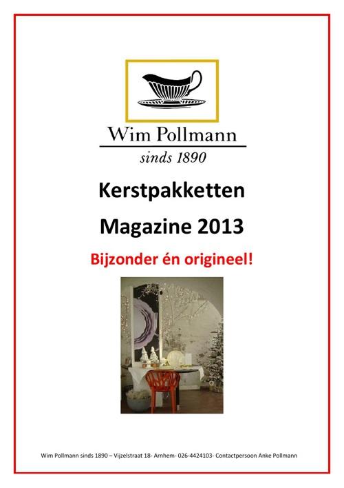 Kerstpakketten magazine Wim Pollmann 2013