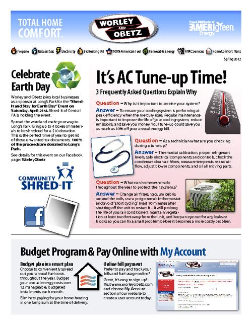 Worley & Obetz Newsletter - April 2012