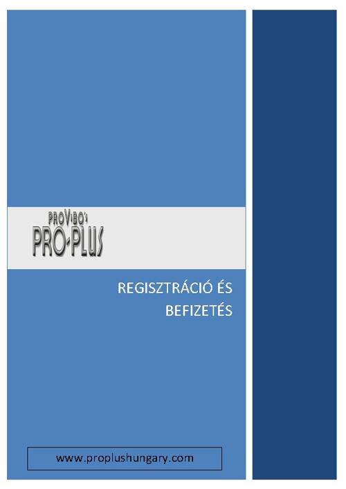 Pro-Plus regisztracio es befizetes