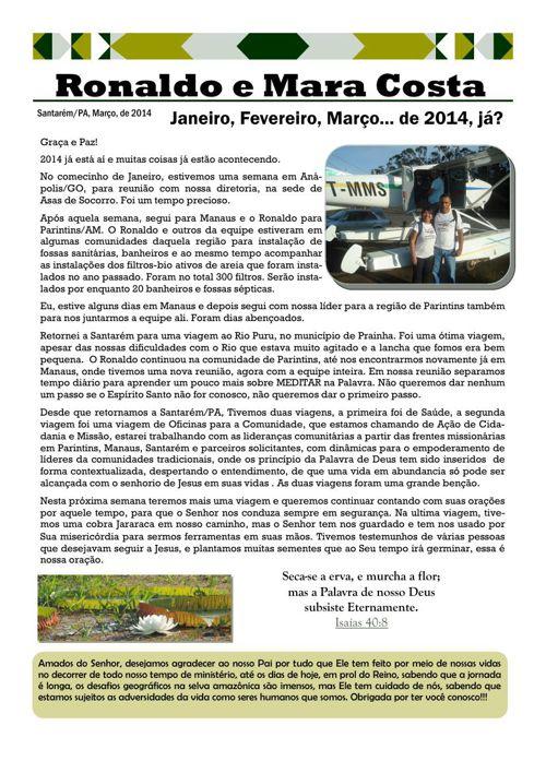 2014 - Notícias Março
