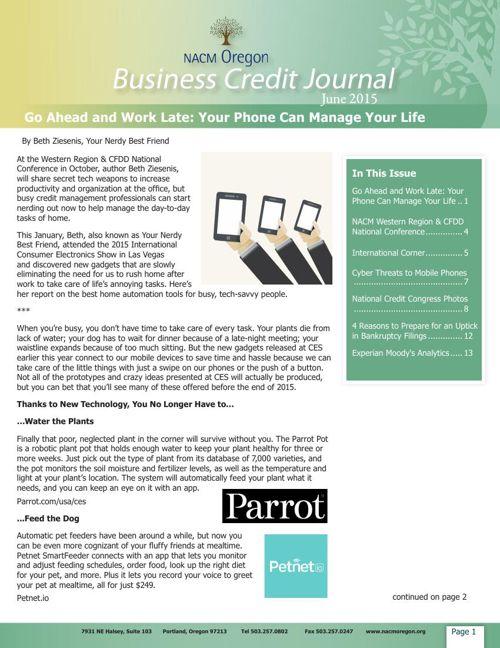NACM Oregon Business Credit Journal June 2015