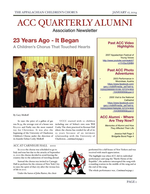 ACC Alumni Association Newsletter
