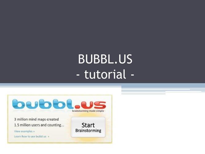 Bubbl.us tutorial