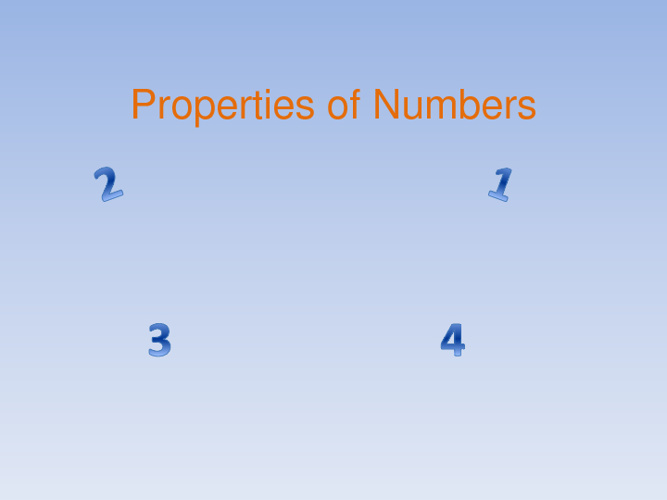 Properties of Number v.2