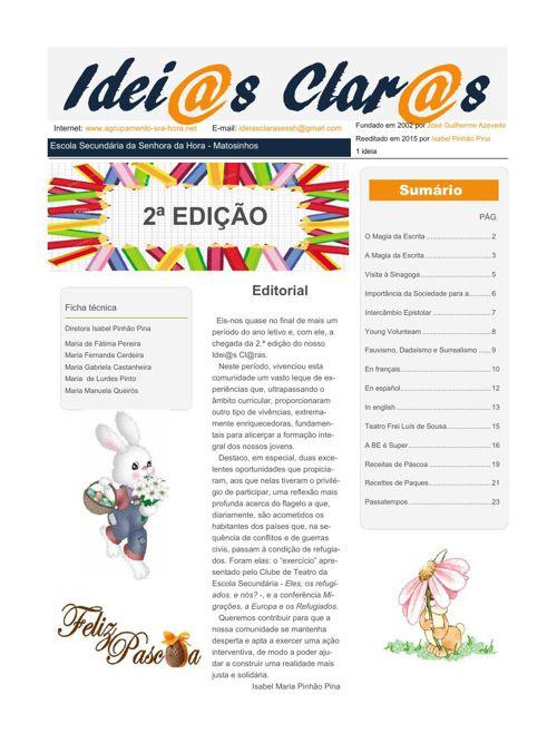 2º Edição - Idei@as Clar@s