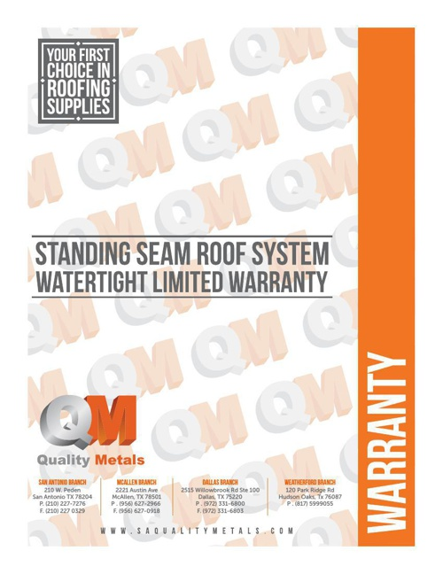 QM watertight warranty