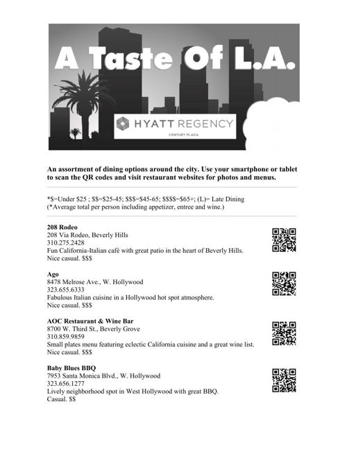 .A Taste Of LA_QR_Rev July 2015