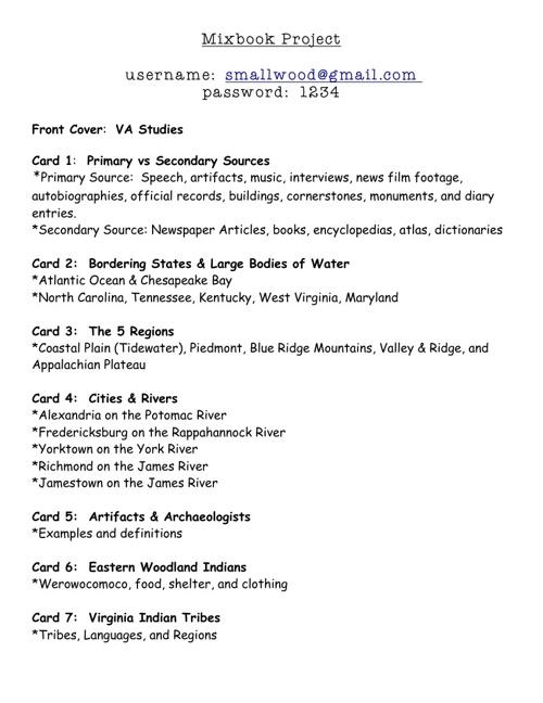 VA Studies Mixed Book Project