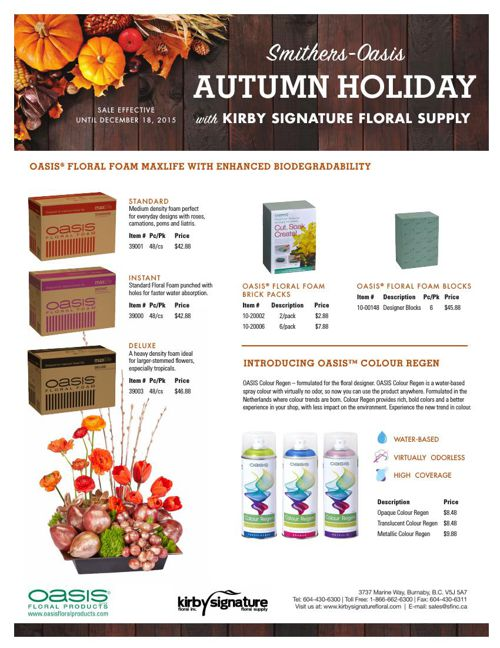 Smithers Autumn Holiday Promotions 2015